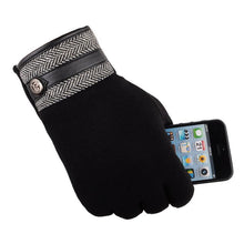 Load image into Gallery viewer, Cotton-Thermal-Touch-Screen-Gloves-Black  - Kwikibuy Amazon Global