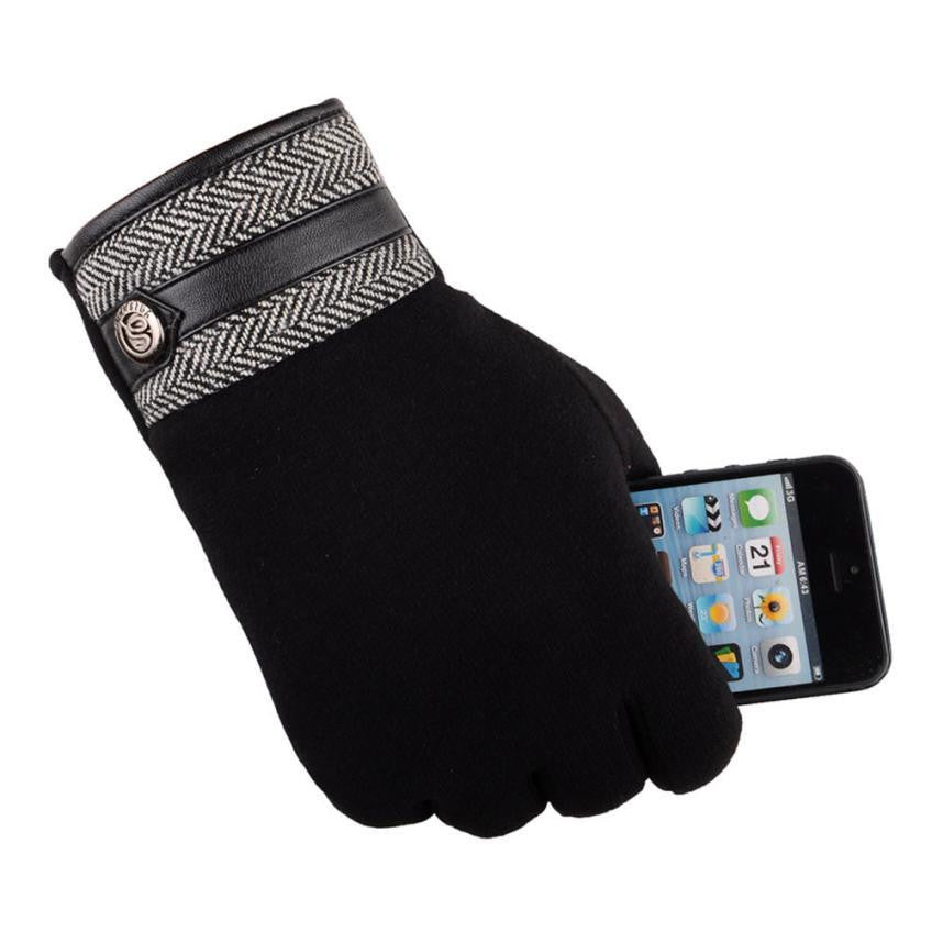 Cotton-Thermal-Touch-Screen-Gloves-Black  - Kwikibuy Amazon Global
