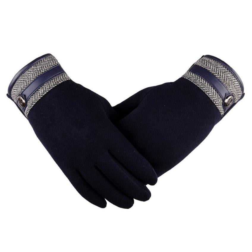 Cotton-Thermal-Touch-Screen-Gloves-Navy-Blue  - Kwikibuy Amazon Global