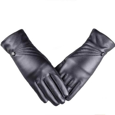 Black Leather Cashmere Ladies Gloves  - Kwikibuy Amazon Global