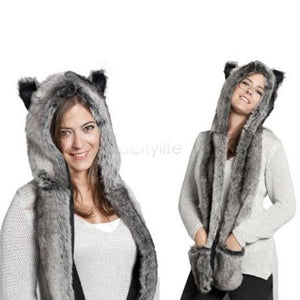 Fur Scarf Hat  - Kwikibuy Amazon Global