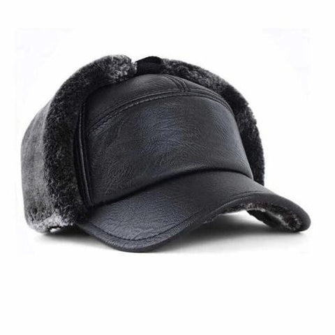 Leather & Wool Snap-back Cap | Kwikibuy Amazon Global | United States | All | Hat | Snap-back | Leather | Winter | Fashion | Cap | Wool
