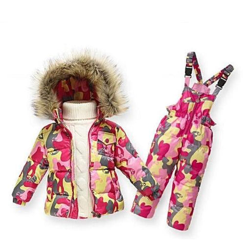 Down Snow Suits & Jackets (Pink mix camouflage) | Kwikibuy Amazon | United States | Children | Kids | Outer wear | Snow Pants | Winter