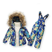 Load image into Gallery viewer, Down-Snow-Jacket-Blue-Mix-Camouflage  - Kwikibuy Amazon Global
