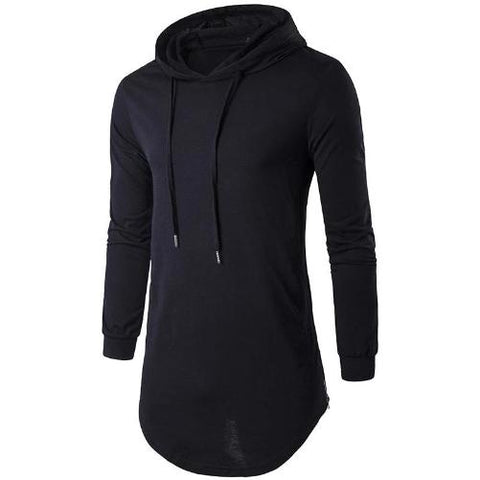 Black-Long-Hoodie-T-Shirt  - Kwikibuy Amazon Global
