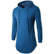Load image into Gallery viewer, Blue-Long-Hoodie-T-Shirt  - Kwikibuy Amazon Global
