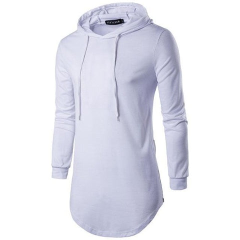 White-Long-Hoodie-T-Shirt  - Kwikibuy Amazon Global