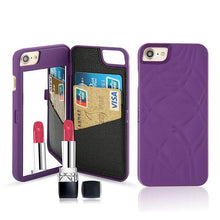 Load image into Gallery viewer, Luxury-Mirror-Wallet-Flip-iPhone-3-D-Makeup-Card-Slot-Phone-Case-Purple  - Kwikibuy Amazon Global
