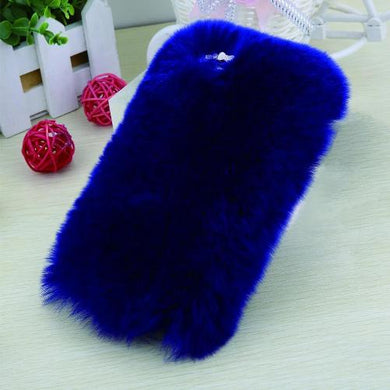 iPhone Soft Fluffy Plush Rabbit Fur Back Cover (6 Sizes - 10 Colors)  - Kwikibuy Amazon Global