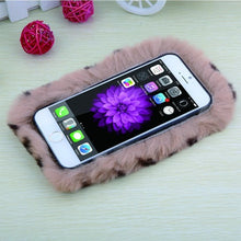 Load image into Gallery viewer, iPhone Soft Fluffy Plush Rabbit Fur Back Cover (6 Sizes - 10 Colors)