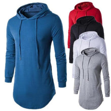 Load image into Gallery viewer, Long Blue Hoodie T-Shirt (5 Sizes - 5 Colors)  - Kwikibuy Amazon Global