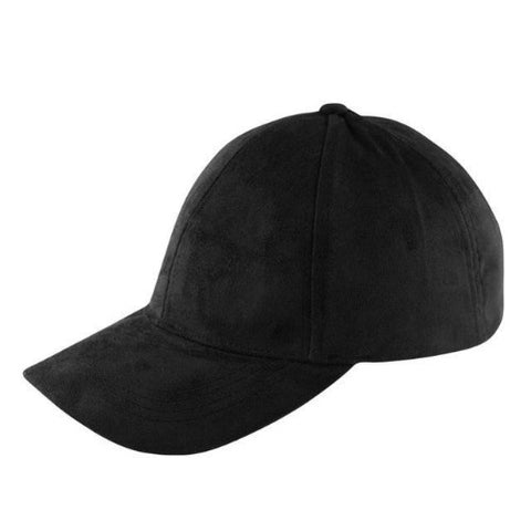 Suede Snapback Cap (Black) - Kwikibuy Amazon