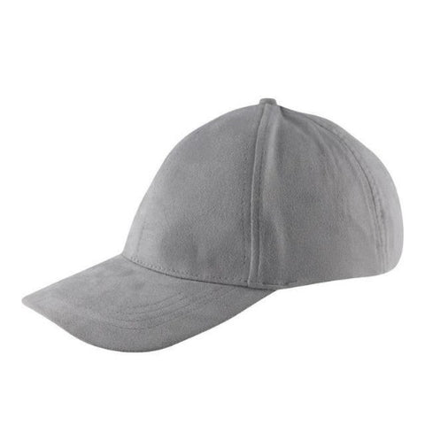 Suede Snapback Cap (Grey) - Kwikibuy Amazon