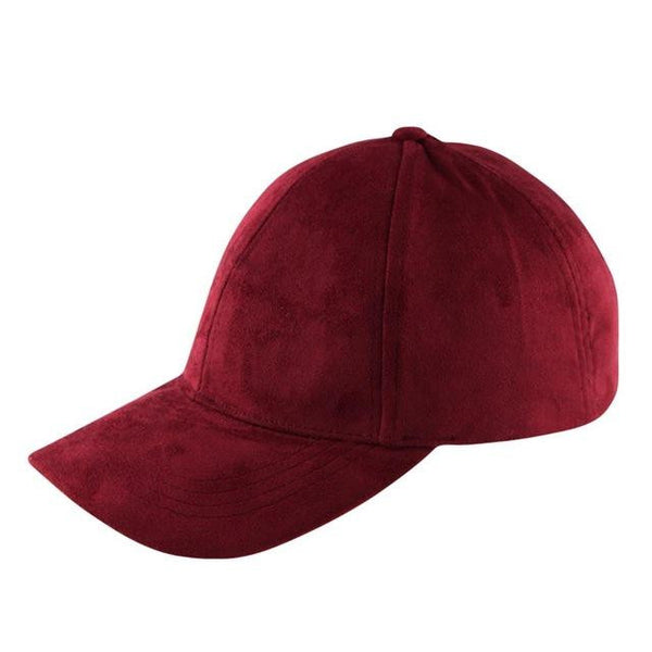 Suede Snapback Cap (Red) - Kwikibuy Amazon