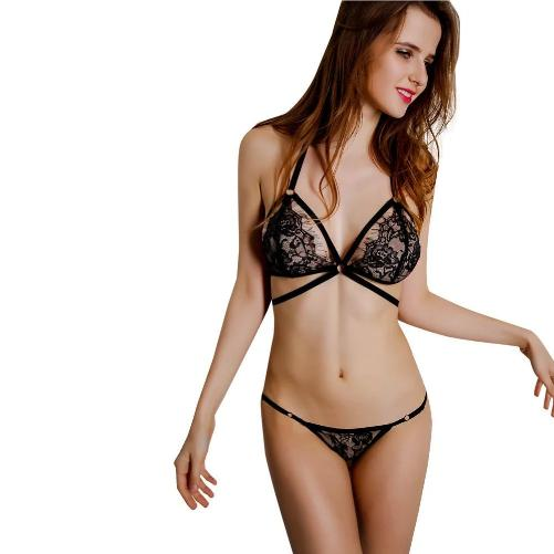 🔥 Sheer Lace Bra Panties Set (3 Sizes - 2 Colors)  - Kwikibuy Amazon Global