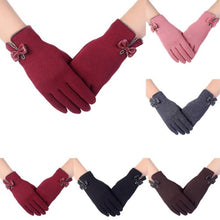 Load image into Gallery viewer, High-Quality-Ladies-Bow-Gloves-Coffee  - Kwikibuy Amazon Global