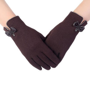 High-Quality-Ladies-Bow-Gloves-Black  - Kwikibuy Amazon Global