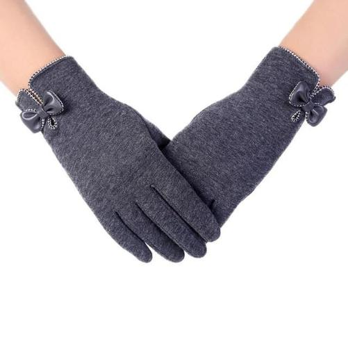 High-Quality-Ladies-Bow-Gloves-Grey  - Kwikibuy Amazon Global