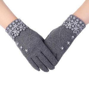 High-Quality-Fashion-Lace-Warm-Gloves-Purple  - Kwikibuy Amazon Global