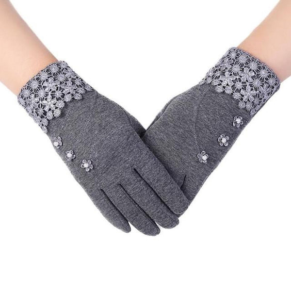 High Quality Fashion Lace Warm Gloves (Grey) | Kwikibuy Amazon | United States | All | Women | Outerwear | Gloves | Mittens | Autumn | Winter | iPhone