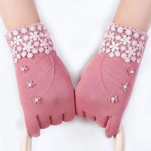 High Quality Fashion Lace Warm Gloves (Pink) | Kwikibuy Amazon | United States | All | Women | Outerwear | Gloves | Mittens | Autumn | Winter | iPhone