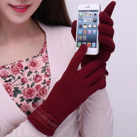 Shop-Now-Cotton-Touchscreen-Gloves-Red-Kwikibuy.com-Women-Outer-wear