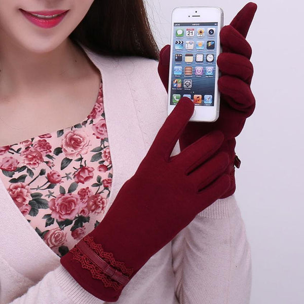 Cotton Touchscreen Gloves (Red) | Kwikibuy Amazon | United States | All | Women | Outerwear | Gloves | Mittens | Autumn | Winter | iPhone