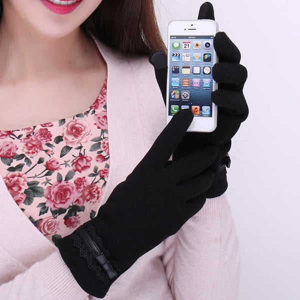 Cotton Touchscreen Gloves (Black) | Kwikibuy Amazon | United States | All | Women | Outerwear | Gloves | Mittens | Autumn | Winter | iPhone