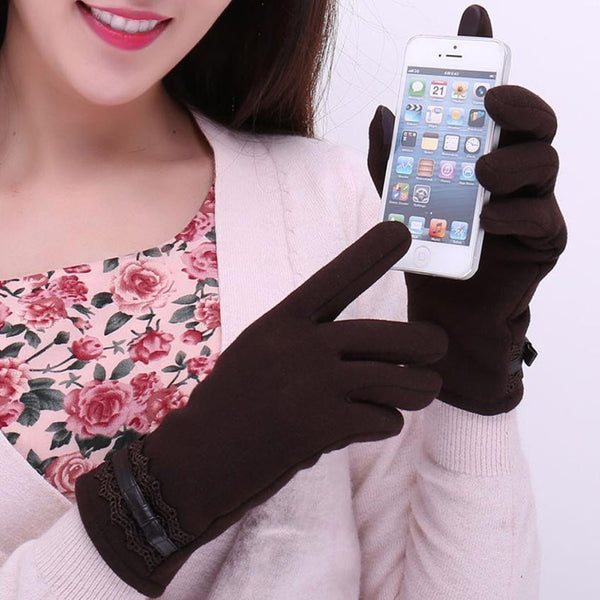 Cotton Touchscreen Gloves (Brown) | Kwikibuy Amazon | United States | All | Women | Outerwear | Gloves | Mittens | Autumn | Winter | iPhone