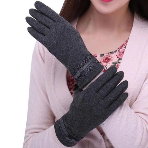Cotton Touchscreen Gloves (Grey) | Kwikibuy Amazon | United States | All | Women | Outerwear | Gloves | Mittens | Autumn | Winter | iPhone