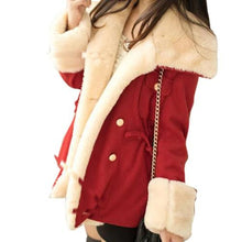 Load image into Gallery viewer, Wool-Blend-Double-Breasted-Jacket-Red  - Kwikibuy Amazon Global