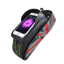 Load image into Gallery viewer, Portable-Rainproof-Bicycle-Touch-Screen-Phone-Bag-with-Lid-Blue  - Kwikibuy Amazon Global