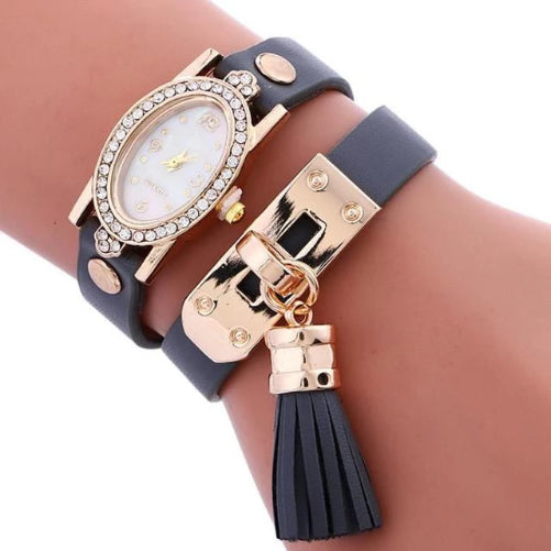 Simplicity Chimes Leather Watch (Black) | Kwikibuy Amazon | United States | All | Women | Fashion | Watches | Fancy