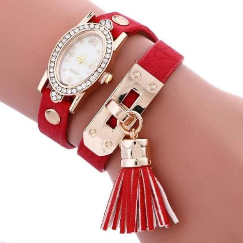 Simplicity Chimes Leather Watch (Red) | Kwikibuy Amazon | United States | All | Women | Fashion | Watches | Fancy