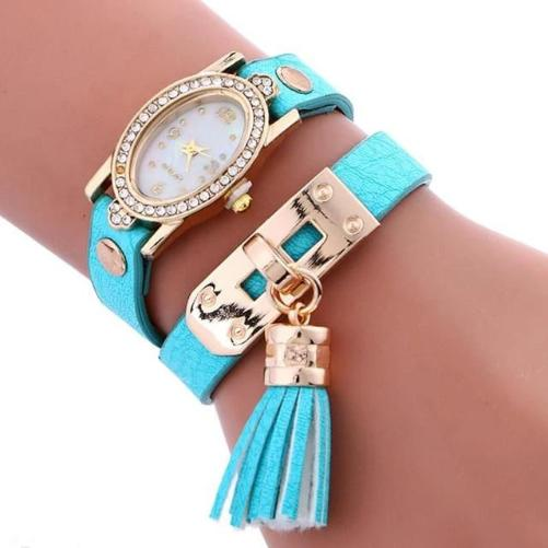 Simplicity Chimes Leather Watch (Sky Blue)  | Kwikibuy Amazon | United States | All | Women | Fashion | Watches | Fancy