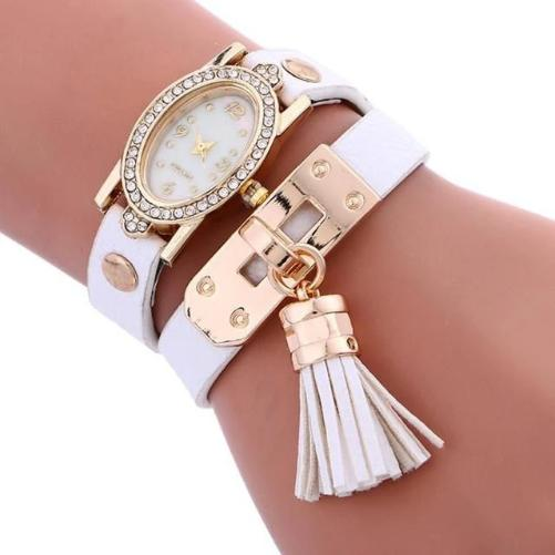 Simplicity Chimes Leather Watch (White) | Kwikibuy Amazon | United States | All | Women | Fashion | Watches | Fancy