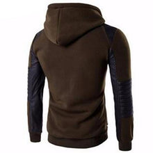 Load image into Gallery viewer, Leather Stitching Sweatshirt Hoody (Army Green)  - Kwikibuy Amazon Global