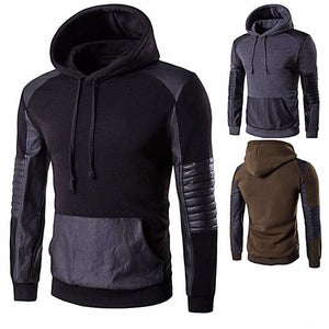 Leather Stitching Sweatshirt Hoody (3 Colors)  - Kwikibuy Amazon Global