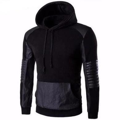 Leather Stitching Sweatshirt Hoody (3 Colors - 5 Sizes)  - Kwikibuy Amazon Global