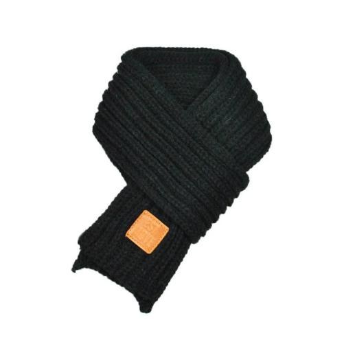 Warm Knitted Child's Solid Color Scarf (Black) | Kwikibuy Amazon Global | United States | Children | Kids | Winter | Scarf | Scarves