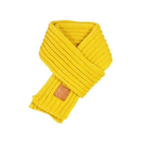 Shop-Now-Warm-Knitted-Child's-Solid-Color-Yellow-Scarf-Kwikibuy-Amazon-United-States-Children-Kids-Winter-Scarves