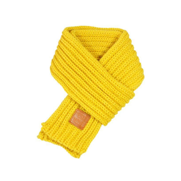 Warm Knitted Child's Solid Color Scarf (Yellow) | Kwikibuy Amazon | United States | Children | Kids | Winter | Scarf | Scarves