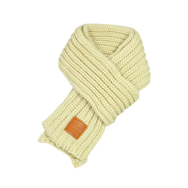 Warm Knitted Child's Solid Color Scarf (Beige) | Kwikibuy Amazon | United States | Children | Kids | Winter | Scarf | Scarves
