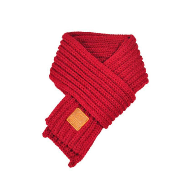Warm Knitted Child's Solid Color Scarf (Red) | Kwikibuy Amazon | United States | Children | Kids | Winter | Scarf | Scarves