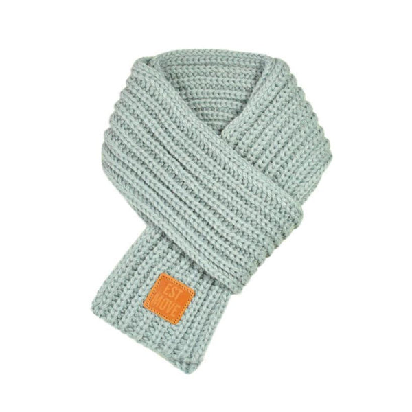 Warm Knitted Child's Solid Color Scarf (Grey) | Kwikibuy Amazon | United States | Children | Kids | Winter | Scarf | Scarves
