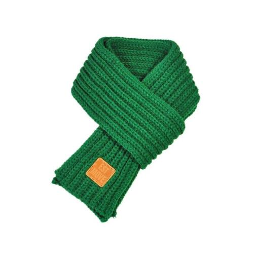 Warm Knitted Child's Solid Color Scarf (Green) | Kwikibuy Amazon | United States | Children | Kids | Winter | Scarf | Scarves