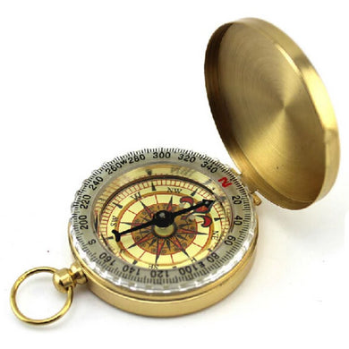 Classic Luminous Display Brass Compass Key-chain  - Kwikibuy Amazon Global