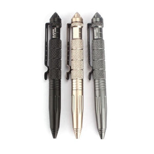 Multipurpose Tactical Pen  - Kwikibuy Amazon Global Color: Black, grey, gold Function: Tactical Pen, emergency glass breaker tool Materials: Aircraft Aluminum