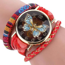 Load image into Gallery viewer, Vintage Butterfly Leather Bracelet Quartz Wristwatch  - Kwikibuy Amazon Global