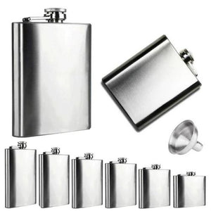 👻 Stainless Steel Hip Flask and Funnel (6 Sizes)  - Kwikibuy Amazon Global Online S Hopping Mall 6 Sizes: 4, 5, 6, 7, 8 or 10 oz Stainless Steel Hip Flask